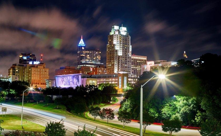 Raleigh Night Skyline